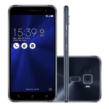 """Smartphone Asus Zenfone 3 Tela 5,2"""" 3 GB Preto e Azul Escuro 4G 16 MP Android 6.0"""