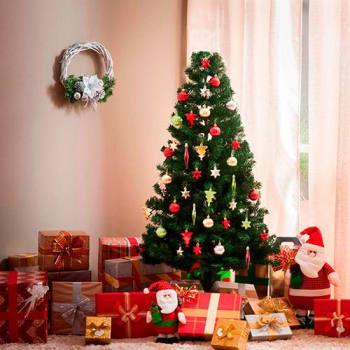 Árvore Tradicional 1,5m 221 Galhos + Enfeite de Árvore 50 Peças - Orb Christmas