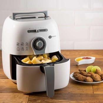 Fritadeira sem Óleo Colors Fritalight Branca com Cinza Fun Kitchen com 2 Anos de Garantia