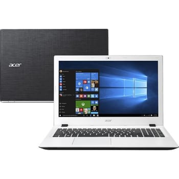 "Notebook Acer E5-574-50LD Intel Core 6 I5 4GB 1TB Tela 15,6"" Windows 10 - Branco"