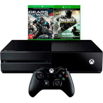Console Xbox One 500GB + 2 Jogos + Controle Sem Fio