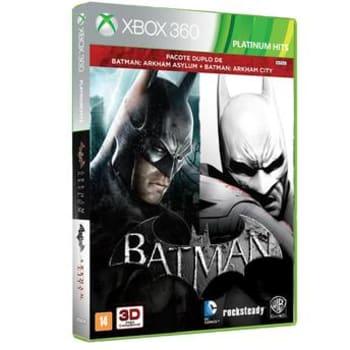 Jogo Batman Arkham Asylum + Arkham City para XBOX 360Warner