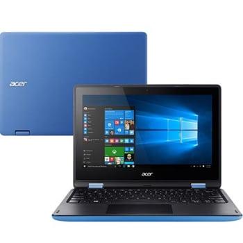 "Notebook 2 em 1 Acer R3-131T-P7PY Intel Pentium Quad Core 4GB 500GB Tela 11.6"" W10 - Azul"