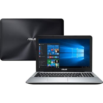 "Notebook Asus X555UB-BRA-XX298T Intel Core i7 8GB (2GB de Memória Dedicada) 1TB Tela LED 15,6"" Windows 10 - Preto"