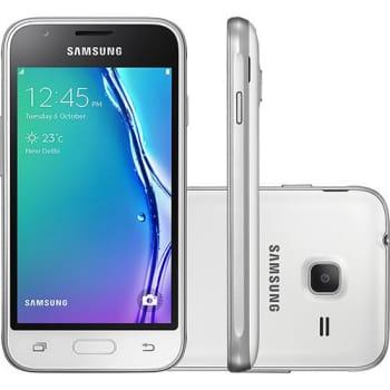 "Smartphone Samsung Galaxy J1 Mini SM-J105 Dual Chip Desbloqueado Oi Android Tela 4"" 8GB 4G/Wi-Fi  Câmera 5MP - Branco (Cód. 127782311)"
