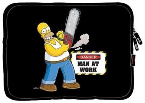 """Capa Protetora Em Neoprene iwill Simpsons Home Para Tablets Até 7.9"""""""